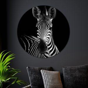 Aluminium Cirkel - Dark Zebra