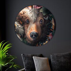 Aluminium Cirkel - Flower Bear