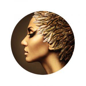 Aluminium Cirkel - Leaves Women