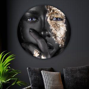 Aluminium Cirkel - Silent Women