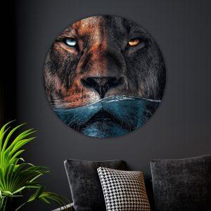 Aluminium Cirkel - Water Lion