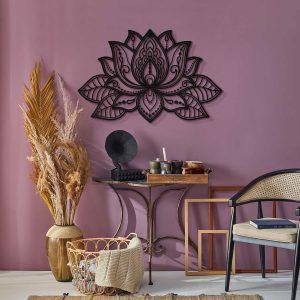 Metalen wanddecoratie - Lotus