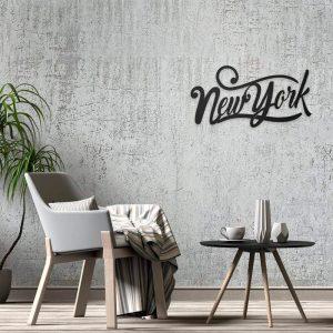 Metalen wanddecoratie - New York