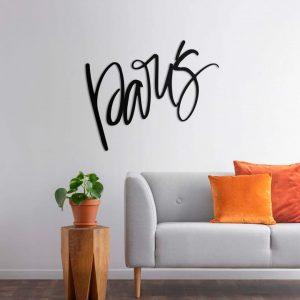 Metalen wanddecoratie - Paris