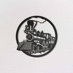 Metalen wanddecoratie - Train