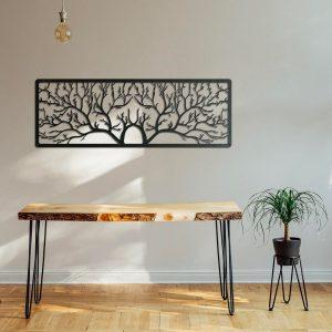 Metalen wanddecoratie - A Forest