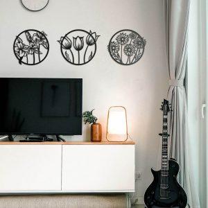Metalen wanddecoratie - Flora
