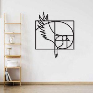 Metalen wanddecoratie - Golden Ratio Bird