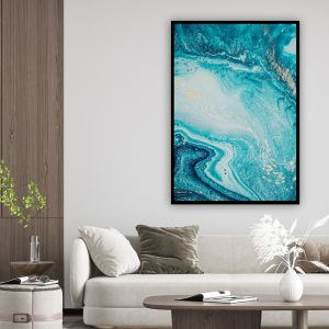 Marble (marmer) Blue texture poster