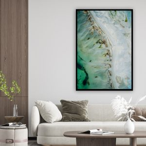 Marble (marmer) Green Blue texture poster