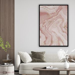 Marble (marmer) Pink 1 texture poster