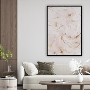Marble (marmer) Pink 2 texture poster