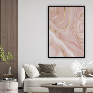Marble (marmer) Pink 3 texture poster