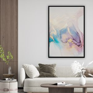Marble (marmer) Pink Blue texture poster