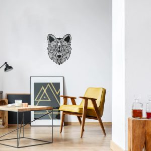 Metalen wanddecoratie - Fox (vos) Lines