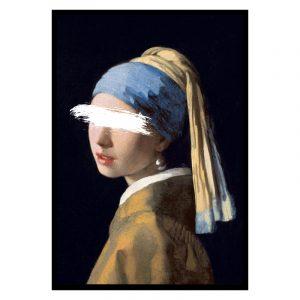 Meisje met de Parel Unknown (Johannes Vermeer) poster