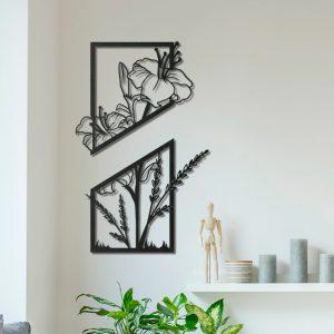 Metalen wanddecoratie - Two Parts Flower