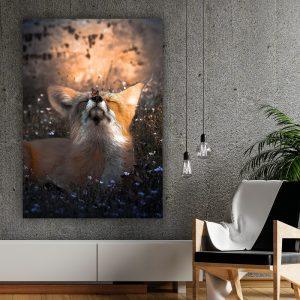 Butterfly Fox poster botanisch jungle dieren