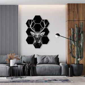 Hexagon - Dark Deer