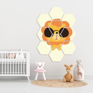 Hexagon - Yellow Lion kindercollage