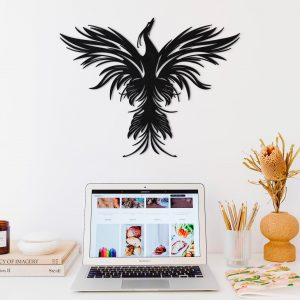 Metalen wanddecoratie - Phoenix