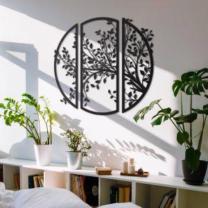 Metalen wanddecoratie - Tree Circle
