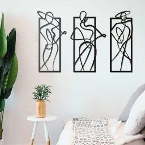 Metalen wanddecoratie - Women Lines