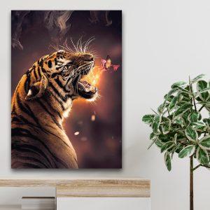 Burning Butterfly poster botanisch jungle dieren