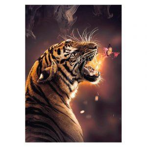 Aluminium Dibond Plexiglas Burning Butterfly botanische jungle dieren poster