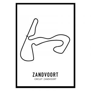 Zandvoort Formule 1 circuit poster