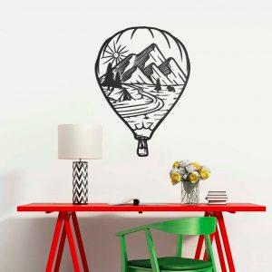 Metalen wanddecoratie - Air Balloon (Luchtballon)