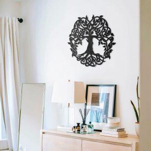 Metalen wanddecoratie - Big Tree of Life
