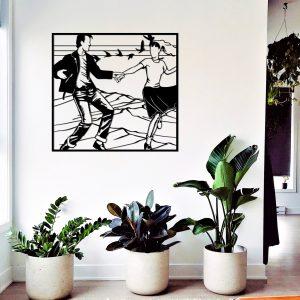 Metalen wanddecoratie - Dancing