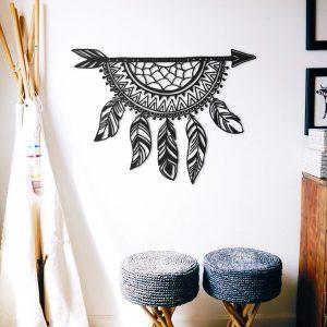 Metalen wanddecoratie - Dreamcatcher Arrow