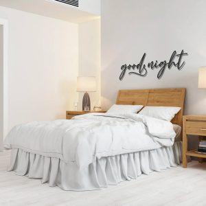 Metalen wanddecoratie - Good Night