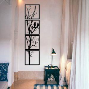 Metalen wanddecoratie - Horizontal Tree