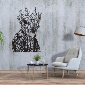 Metalen wanddecoratie - Nature Women