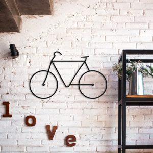 Metalen wanddecoratie - Thin Bike