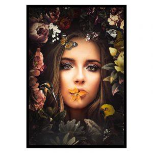 Women poster botanisch jungle dieren